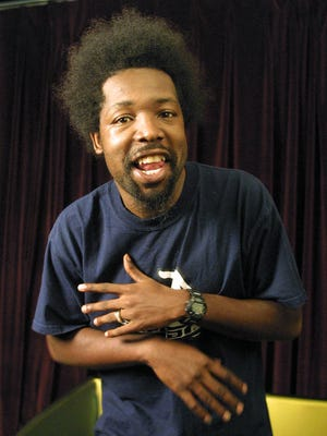 In this Aug. 22, 2001, file photo, rapper Joseph Foreman, aka Afroman, poses for a portrait in New York. Afroman was arrested Tuesday night after punching a female fan, police said, and his show in Biloxi show was canceled.