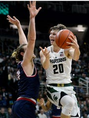 Sophomore Matt McQuaid is MSU's only pure shooter and