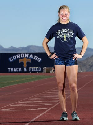 Jennelle Jaeger-Darakjy of Coronado will be going to the Class 6A state track and field meet in the 800 meters.