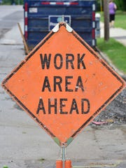 A file image of a road-work sign. U.S. 30 is getting a special surface on top of Tuscarora Mountain west of Fort Loudon.