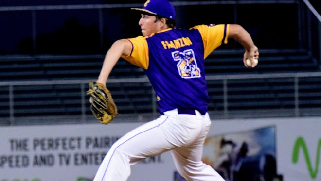 Campbell County pitcher Alex Franzen had a stellar night on the hill for the Camels.