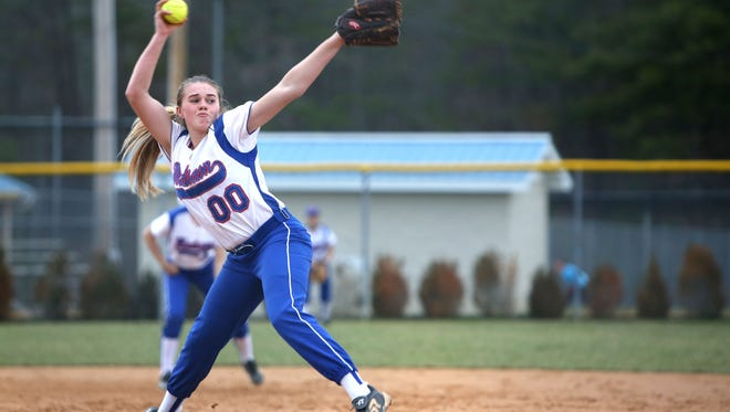 Savannah Rice helped lead Madison softball to a 5-4 win over defending Western Highlands Conference champion Polk County on Friday.