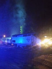 An Amtrak train collided with a vehicle in Dayton, Ky. on Sept. 4, 2017.