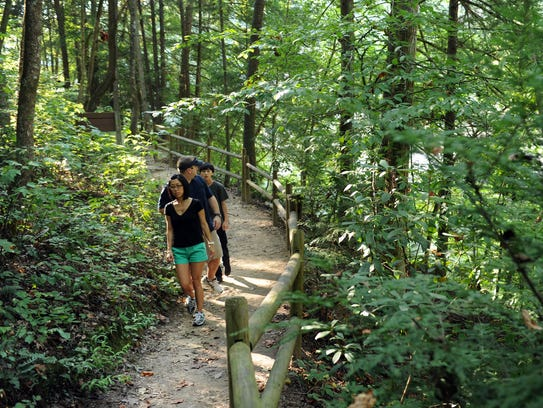 Hiking and enjoying the great outdoors is a great free way to spend a day. And our local and state parks have plenty of  hikes through the year.