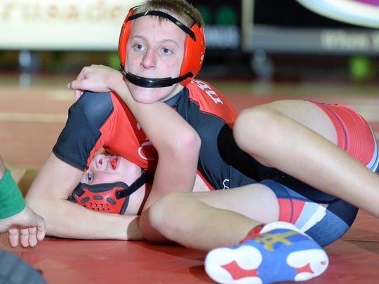 Delsea's Travis Griffith pins Jackson Liberty's Dylan