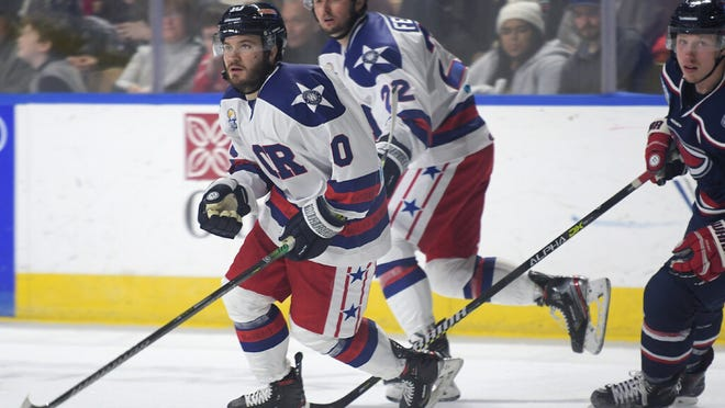 Tyler Poulsen had four goals and one assist in 10 games last season with the Railers after being acquired in a February trade.