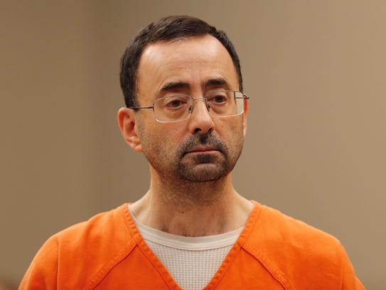 Dr. Larry Nassar, appears in court for a plea hearing