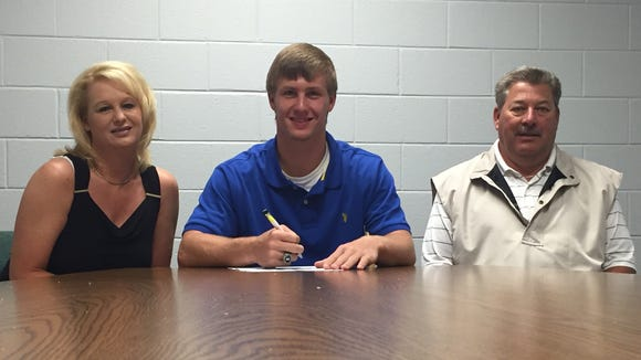 Robbinsville senior Colton Millsaps has signed to play