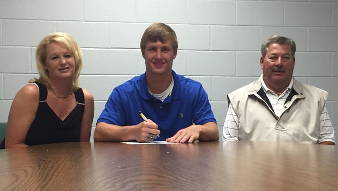 Robbinsville senior Colton Millsaps has signed to play college football for Mars Hill.