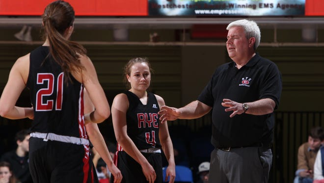 Peekskill beat Rye 60-56 in a Section 1 Class A girls basketball semifinal at the Westchester County Center Feb. 26, 2015.