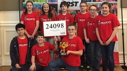 The robotics team at Branson's Buchanan Intermediate.
