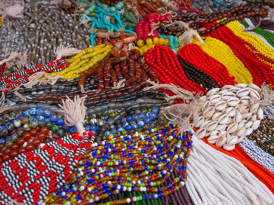 African beads and necklaces at Discoveries