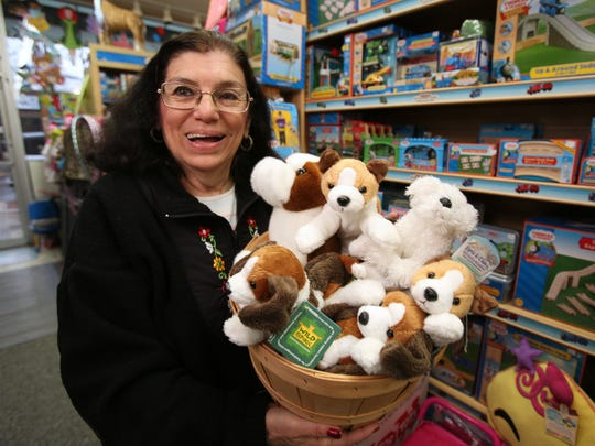 """Judy Clemens on Tuesday at her store the Toy Box in Pearl River. """"I am very sure about what I sell,"""" she says."""