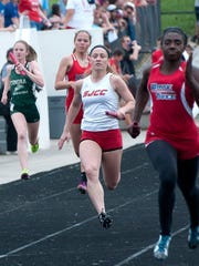St. Joseph Central Catholic's Ava Stepanic competes