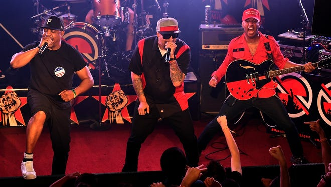 Prophets of Rage will perform on Aug. 30 at Klipsch Music Center.