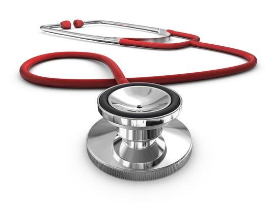 HEALTH stethoscope red