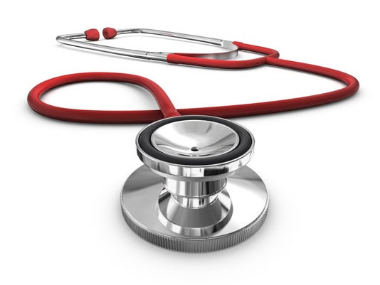 HEALTH stethoscope red