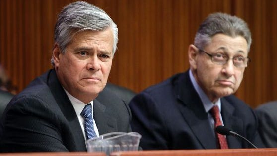 The former legislative leaders, Dean Skelos (left) and Sheldon Silver, were both sentenced in May 2016 in separate corruption cases.