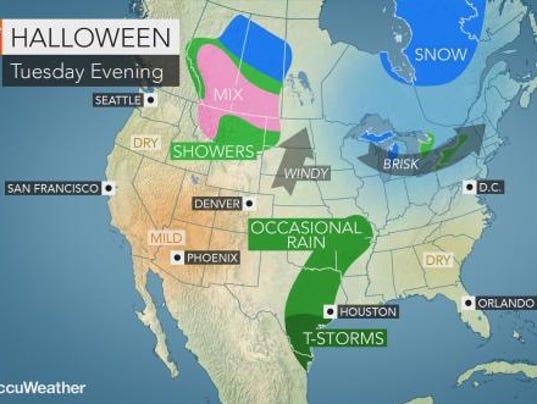 Halloween weather forecast
