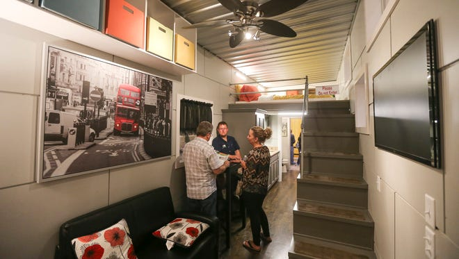 A home built from a 40-foot-long shipping container was one of the highlights at the Wichita Home Remodeling & Decorating Expo.