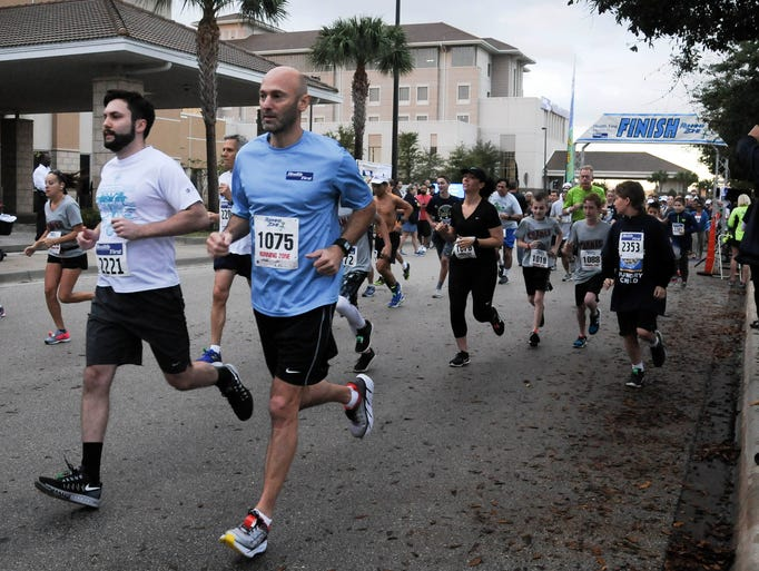 More than 350 runners participated in the inaugural