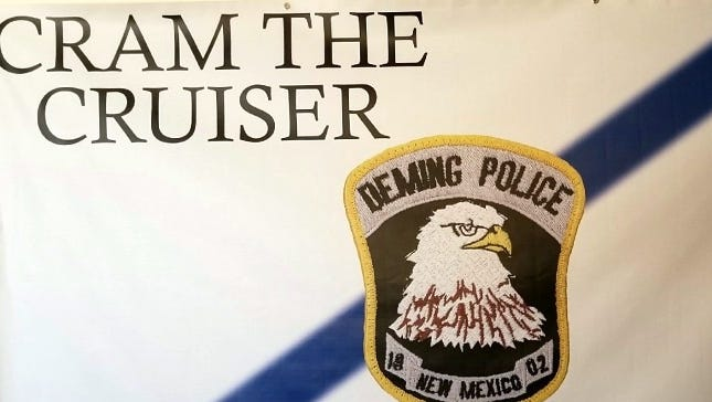 Deming Police are hoping to fill a patrol unit with shoes and school supplies for needy children in Deming.