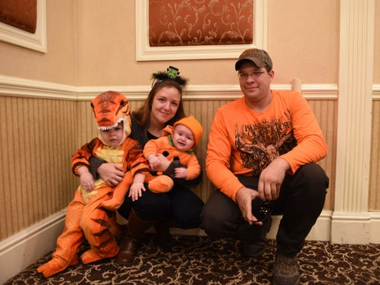 Leanna, 26, and Andrew Russell, 27, and their children, Logan and Austin, brought their Halloween spirit to Vassar Brothers Medical Center's Neonatal Intensive Care Unit's reunion Sunday at the Poughkeepsie Grand Hotel.
