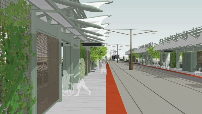 Plans for a new light rail station at 50th and Washington streets were unveiled Wednesday. The $23 million project offers services and sports and recreation facilities for people with disabilities.