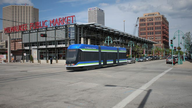 Route construction of the Milwaukee streetcar project will begin on W. St. Paul Ave. in April.