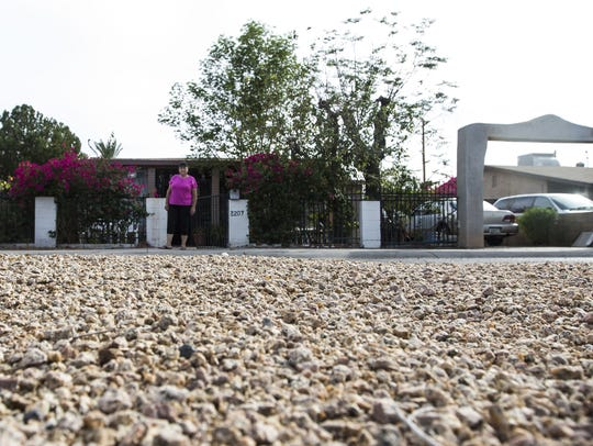 Emma Cordova stands near Sherman Parkway in her South