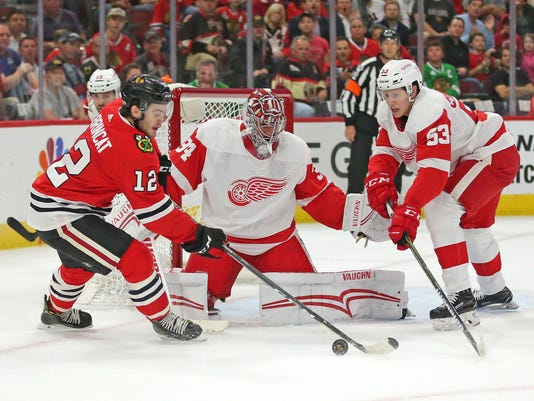 NHL: Preseason-Detroit Red Wings at Chicago Blackhawks
