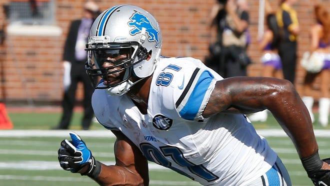 Lions wide receiver Calvin Johnson