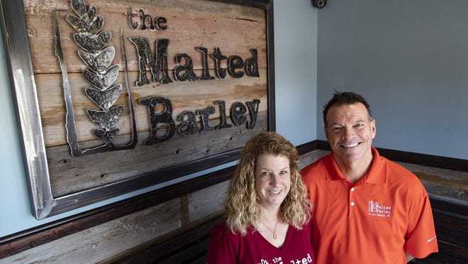Susan and Donald Kehl, co-owners of The Malted Barley, a craft brewpub in Juno Beach, September 27, 2019.