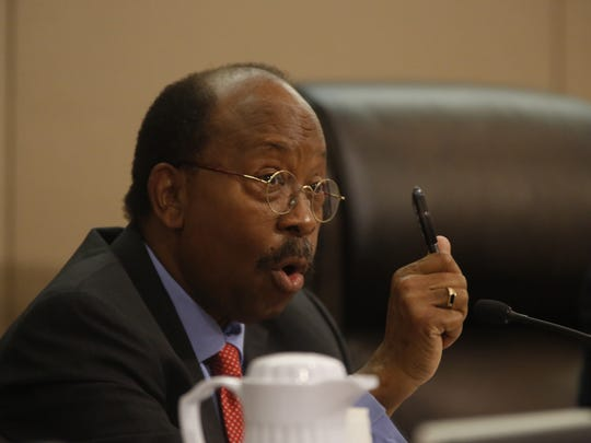 City Commissioner Curtis Richardson during Wednesday's City Commission meeting at City Hall.