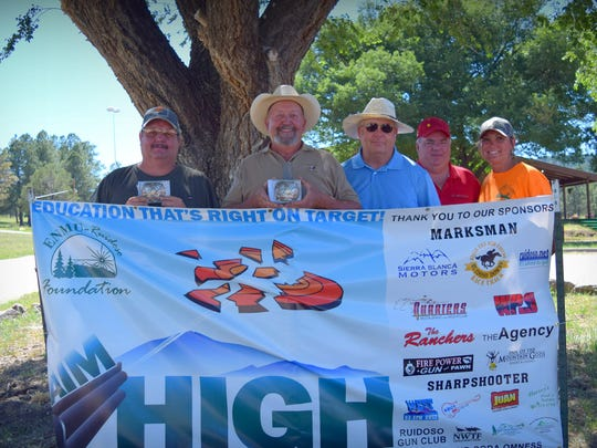 Wade Westerfield, Dennis Nosker, Pancho Maples and Ed Garrett boasted a first place finish at the Aim High fundraiser.