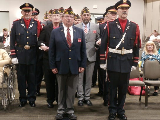 John Schultz is installed as state commander of the