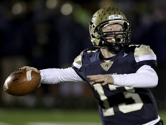 Appleton North's Carter Robinson is one of the top quarterbacks in the state and will again lead the Lightning.