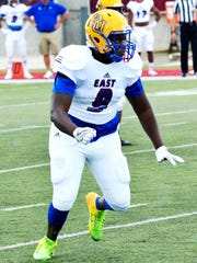 Redford Union linebacker Marquise Hathaway helped lead the East defense to a 21-0 All-Star game shutout.