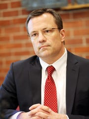 Jason Conger, candidate for the Republican Senate primary, meets with the Statesman Journal editorial board.