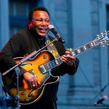 George Benson has won 10 Grammys over the course of his long career. Here, he performs on the main stage to close out Arizona Best Fest on Feb. 13, 2012 in Phoenix.