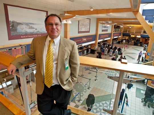 Gene Richards, director of the Burlington International Airport in South Burlington.
