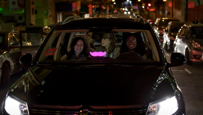 """Glowstaches"" can now make their way to Reno-Tahoe International airport as Lyft is approved for full service at the airport."