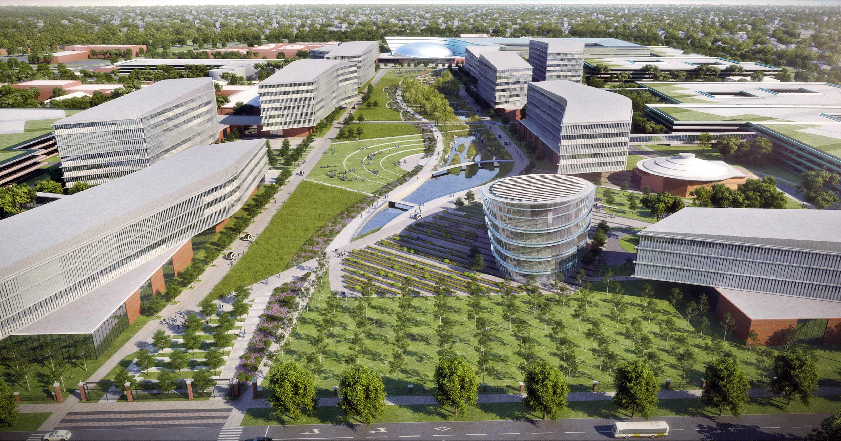 ford dearborn campus map Ford Unveils 10 Year Plan To Transform Dearborn Campus ford dearborn campus map