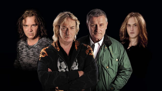 Asia, left to right: Billy Sherwood, Geoff Downes, Carl Palmer and Sam Coulson.