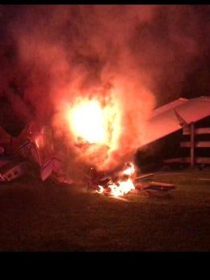 A small-plane crash Saturday night in Hunterdon County left three injured.