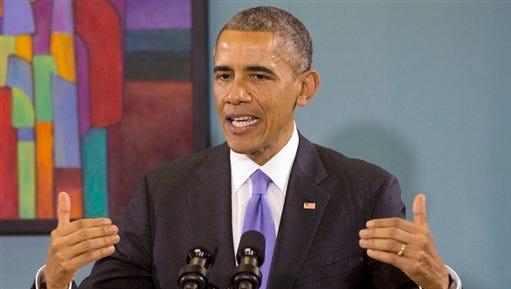 FILE - In this Dec. 9, 2014 file photo, President Barack Obama speaks in Nashville, Tenn.