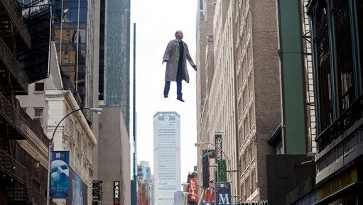 """In this image released by Fox Searchlight Pictures, Michael Keaton portrays Riggan in a scene from """"Birdman."""" The film was nominated for an Oscar Award for best feature on Thursday, Jan. 15, 2015. The 87th Annual Academy Awards will take place on Sunday, Feb. 22, 2015 at the Dolby Theatre in Los Angeles.(AP Photo/Fox Searchlight, Atsushi Nishijima)"""