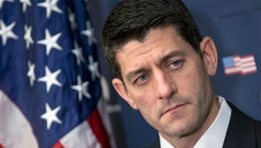 House Speaker Paul Ryan of Wis. talks to reporters as Congress begins the new year on Capitol Hill in Washington, Wednesday, Jan. 6, 2016. After dozens of failed attempts to undo President Barack Obama's health care law, the GOP-led Congress will finally put a bill on the president's desk striking at the heart of his signature legislative achievement.