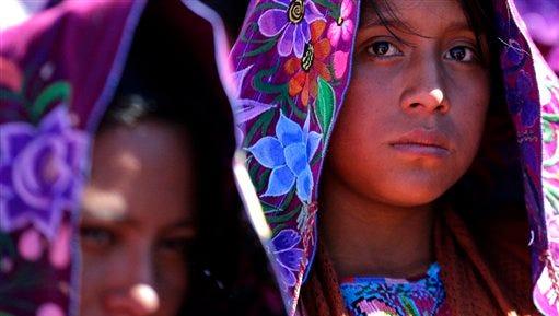 Indigenous women attend Mass celebrated by Pope Francis in San Cristobal de las Casas, Mexico, Feb. 15, 2016.
