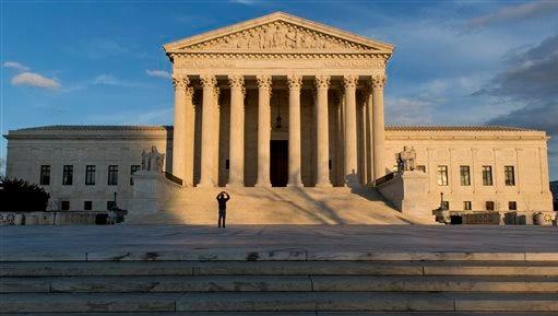 FILE - This Feb. 17, 2016, file photo shows the Supreme Court building in Washington. (AP Photo/J. Scott Applewhite, File)